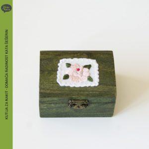 kutija za nakit, vez, domaca radinost kata seserin, zelena kuca petrinja
