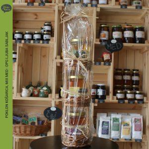 poklon kosarica mix med, opg ljuba sabljak, zelena kuca petrinja