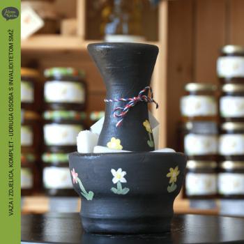 vaza i zdjelica komplet uosismz zelena kuca petrinja